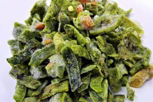 alimentos alternativos Rajas IQF